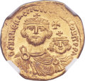 Ancients:Byzantine, Ancients: Heraclius (610-641), with Heraclius Constantine. AVsolidus (21mm, 4.38 gm, 6h)....