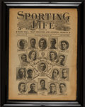 """Basketball Collectibles:Publications, 1907 """"Sporting Life"""" New York Baseball Club Cover...."""