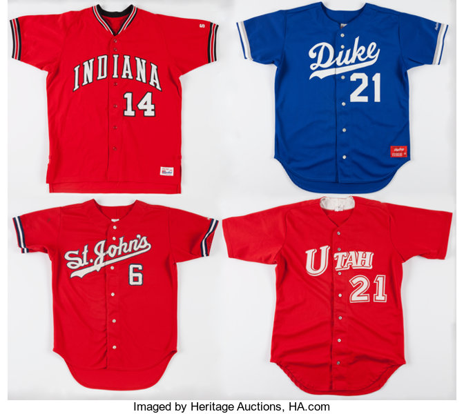 pretty nice 9ae53 ce578 Circa 1990's College Baseball Game Worn Jerseys Lot of 4 ...