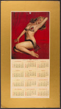 "Miscellaneous Collectibles:General, 1955 Marilyn Monroe ""John Baumgarth Co."" Calendar...."