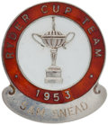 Golf Collectibles:Medals/Jewelry, 1953 Ryder Cup Player Pin From The Sam Snead Collection....