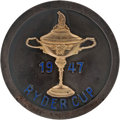 Golf Collectibles:Medals/Jewelry, 1947 Ryder Cup Player Badge From The Sam Snead Collection....