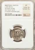 Ancients:Greek, Ancients: BRUTTIUM. Croton. Ca. 480-430 BC. AR stater (8.04 gm)....