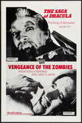 """Movie Posters:Horror, The Dracula Saga/Vengeance of the Zombies Combo & Other Lot (International Cine Film, 1973). One Sheets (2) (27"""" X 40"""" & 27""""... (Total: 2 Items)"""
