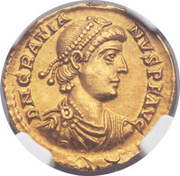 Ancients: Gratian (AD 367-383). AV solidus (22mm, 4.46 gm, 12h).