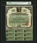 Miscellaneous:Other, $50 Fourth Liberty Loan 4 1/4% October 24, 1918 Gold Bond of1933-1938.. ...