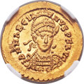 Ancients:Roman Imperial, Ancients: Marcian, Eastern Roman Emperor (AD 450-457). AV solidus(21mm, 4.47 gm, 5h)....