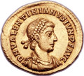 Ancients:Roman Imperial, Ancients: Valentinian II (AD 375-392). AV solidus (21mm, 4.45 gm, 5h)....
