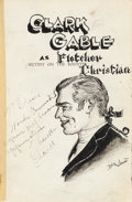"""Movie/TV Memorabilia:Autographs and Signed Items, A Clark Gable, Charles Laughton, Irving Thalberg, and Other CastMembers Unique Signed Book """"Mutiny on the Bounty,"""" 1935...."""