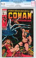 Bronze Age (1970-1979):Adventure, Conan the Barbarian #4 Don/Maggie Thompson Collection pedigree (Marvel, 1971) CGC NM- 9.2 White pages....
