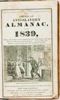 Books:Americana & American History, [Slavery] Three Issues of The American Anti-Slavery Almanacfor 1839, 1840, and 1841 Bound Together in One Volume....