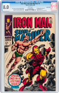 Silver Age (1956-1969):Superhero, Iron Man and Sub-Mariner #1 Suscha News pedigree (Marvel, 1968) CGCVF 8.0 White pages....