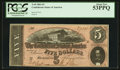 Confederate Notes:1864 Issues, T69 $5 1864 PF- 3 Cr. 559.. ...