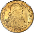 Colombia, Colombia: Charles IV gold 8 Escudos 1808 P-JF AU58 NGC,...