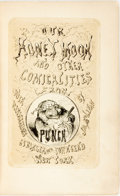 "Books:Literature Pre-1900, [""Punch""]. The Honeymoon, and Other Comicalities, From""Punch"". New York: Stringer & Townsend, 1854. Firstediti..."