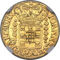 Brazil, Brazil: Joao V gold 1000 Reis 1727-M AU Details (Removed fromJewelry) NGC,...