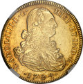 Colombia, Colombia: Charles IV gold 8 Escudos 1794 NR-JJ AU55 NGC,...