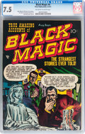 Golden Age (1938-1955):Horror, Black Magic #6 (Prize, 1951) CGC VF- 7.5 Off-white to whitepages....