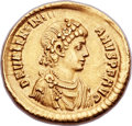 Ancients:Roman Imperial, Ancients: Valentinian II (AD 375-392). AV solidus (21mm, 4.40 gm, 6h)....