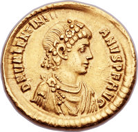 Ancients: Valentinian II (AD 375-392). AV solidus (21mm, 4.40 gm, 6h)