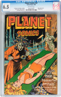 Golden Age (1938-1955):Science Fiction, Planet Comics #41 (Fiction House, 1946) CGC FN+ 6.5 Off-whitepages....