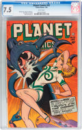Golden Age (1938-1955):Science Fiction, Planet Comics #52 (Fiction House, 1948) CGC VF- 7.5 White pages....