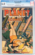 Golden Age (1938-1955):Science Fiction, Planet Comics #53 (Fiction House, 1948) CGC FN 6.0 Off-white towhite pages....