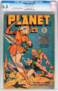 Golden Age (1938-1955):Science Fiction, Planet Comics #55 (Fiction House, 1948) CGC FN+ 6.5 Off-white towhite pages....