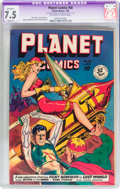 Golden Age (1938-1955):Science Fiction, Planet Comics #58 (Fiction House, 1949) CGC Apparent VF- 7.5 Slight(P) Off-white to white pages....
