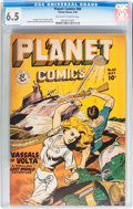 Golden Age (1938-1955):Science Fiction, Planet Comics #60 (Fiction House, 1949) CGC FN+ 6.5 Off-white towhite pages....