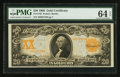 Large Size:Gold Certificates, Fr. 1185 $20 1906 Gold Certificate PMG Choice Uncirculated 64 EPQ.....