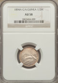 German New Guinea, German New Guinea: German Colony 1/2 Mark 1894-A AU58 NGC,...