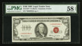 Small Size:Legal Tender Notes, Low Serial Number *00000384A Fr. 1550* $100 1966 Legal Tender Note. PMG Choice About Unc 58 EPQ.. ...