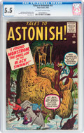Silver Age (1956-1969):Horror, Tales to Astonish #11 (Marvel, 1960) CGC FN- 5.5 Off-white to whitepages....