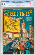 Golden Age (1938-1955):Superhero, World's Finest Comics #64 (DC, 1953) CGC VG+ 4.5 Cream to off-white pages....