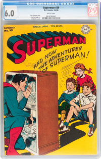 Superman #39 (DC, 1946) CGC FN 6.0 White pages