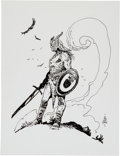 Original Comic Art:Sketches, William Stout - Barbarian Sketch Original Art (1991)....