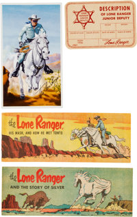 Lone Ranger Promotional Comic and Items Group (various, 1940-56).... (Total: 4 Items)