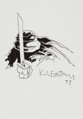 Original Comic Art:Sketches, Kevin Eastman Teenage Mutant Ninja Turtles: Leonardo Sketch Original Art (1997)....