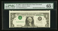 Error Notes:Inverted Third Printings, Fr. 1921-D $1 1995 Federal Reserve Note. PMG Gem Uncirculated 65EPQ.. ...
