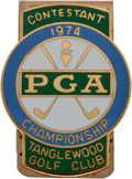 Golf Collectibles:Medals/Jewelry, 1974 PGA Championship Contestant Money Clip From The Sam SneadCollection....