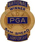 Golf Collectibles:Medals/Jewelry, Sam Snead's PGA National Championship Winners Badge From The SamSnead Collection....