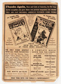 Golden Age (1938-1955):Superhero, Detective Comics #28 BACK COVER ONLY (DC, 1939)....