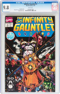 The Infinity Gauntlet #1 (Marvel, 1991) CGC NM/MT 9.8 White pages