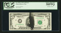 Error Notes:Ink Smears, Fr. 1975-L $5 1977A Federal Reserve Note. PCGS Choice About New58PPQ.. ...