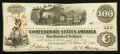 Confederate Notes:1862 Issues, T40 $100 1862 PF-1 Cr-298.. ...