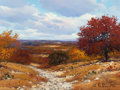 Texas:Early Texas Art - Regionalists, WILLIAM A. SLAUGHTER (American, 1923-2003). Autumn Cacti.Oil on canvas. 12 x 16 inches (30.5 x 40.6 cm). Signed lower r...