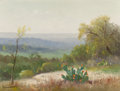 Texas:Early Texas Art - Regionalists, PORFIRIO SALINAS (American, 1910-1973). Cacti Blooming in Redand Yellow. Oil on canvas. 11-3/4 x 16 inches (29.8 x 40.6...