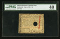 Colonial Notes:Massachusetts, Massachusetts May 5, 1780 $8 PMG Extremely Fine 40.. ...