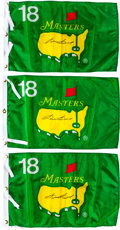 Golf Collectibles:Miscellaneous, Sam Snead Signed 18th Hole Masters Flags Lot of 3....
